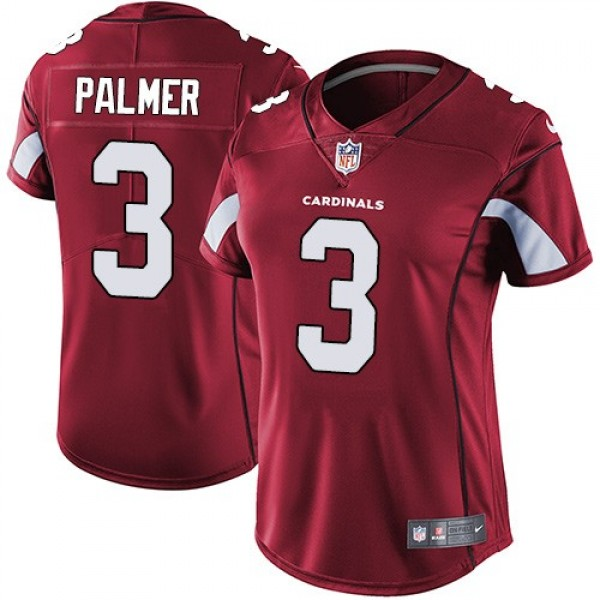 Women's Cardinals #3 Carson Palmer Red Team Color Stitched NFL Vapor Untouchable Limited Jersey