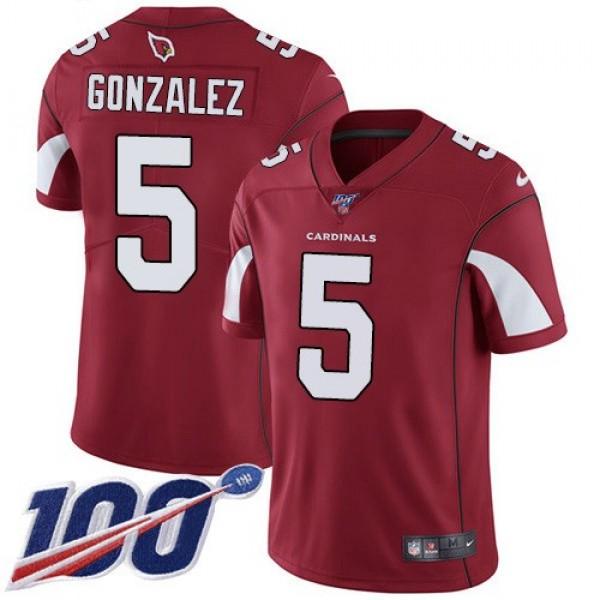 Nike Cardinals #5 Zane Gonzalez Red Team Color Men's Stitched NFL 100th Season Vapor Limited Jersey