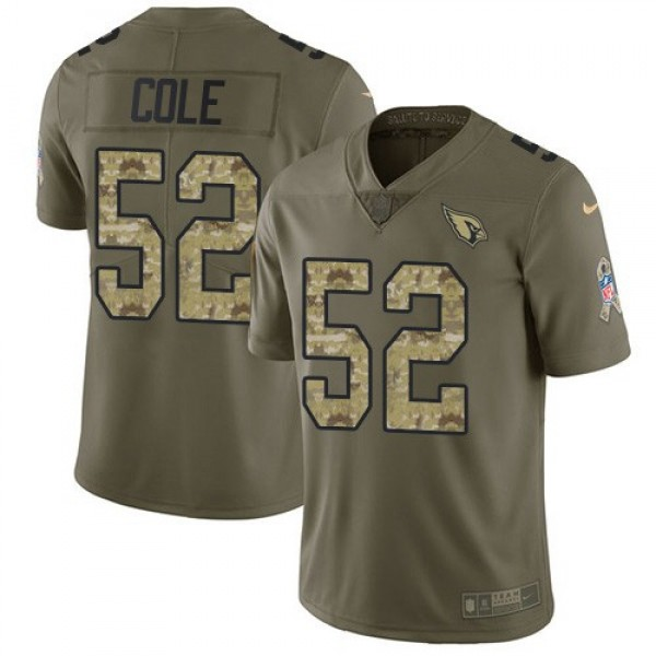 Nike Cardinals #52 Mason Cole Olive/Camo Men's Stitched NFL Limited 2017 Salute to Service Jersey