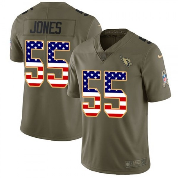 Nike Cardinals #55 Chandler Jones Olive/USA Flag Men's Stitched NFL Limited 2017 Salute to Service Jersey