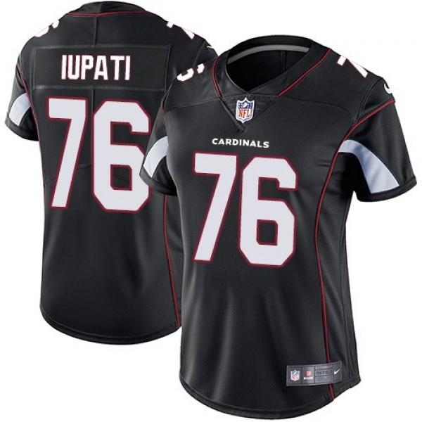 Women's Cardinals #76 Mike Iupati Black Alternate Stitched NFL Vapor Untouchable Limited Jersey