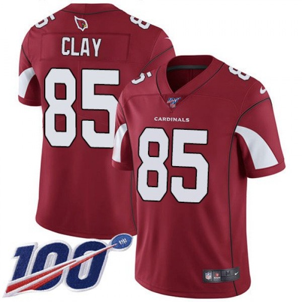 Nike Cardinals #85 Charles Clay Red Team Color Men's Stitched NFL 100th Season Vapor Limited Jersey