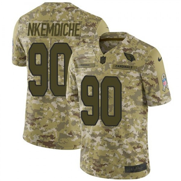 Nike Cardinals #90 Robert Nkemdiche Camo Men's Stitched NFL Limited 2018 Salute to Service Jersey