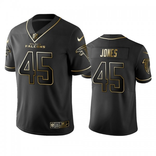 Falcons #45 Deion Jones Men's Stitched NFL Vapor Untouchable Limited Black Golden Jersey