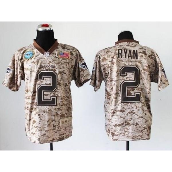 Nike Falcons #2 Matt Ryan Camo Men's Stitched NFL New Elite USMC Jersey