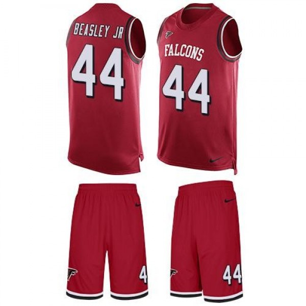 Nike Falcons #44 Vic Beasley Jr Red Team Color Men's Stitched NFL Limited Tank Top Suit Jersey