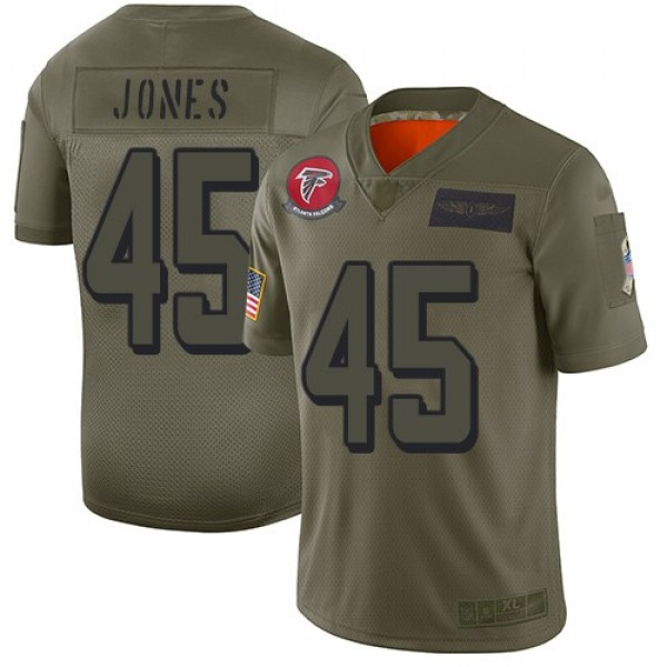 Nike Falcons #45 Deion Jones Camo Men's Stitched NFL Limited 2019 Salute To Service Jersey