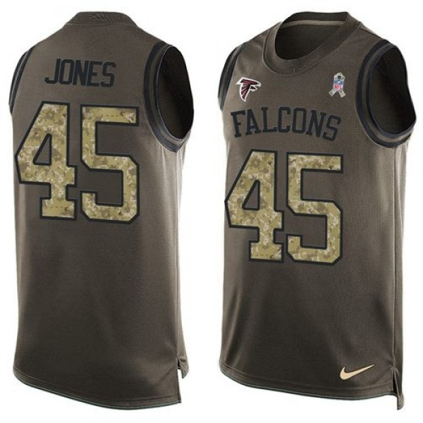 Nike Falcons #45 Deion Jones Green Men's Stitched NFL Limited Salute To Service Tank Top Jersey