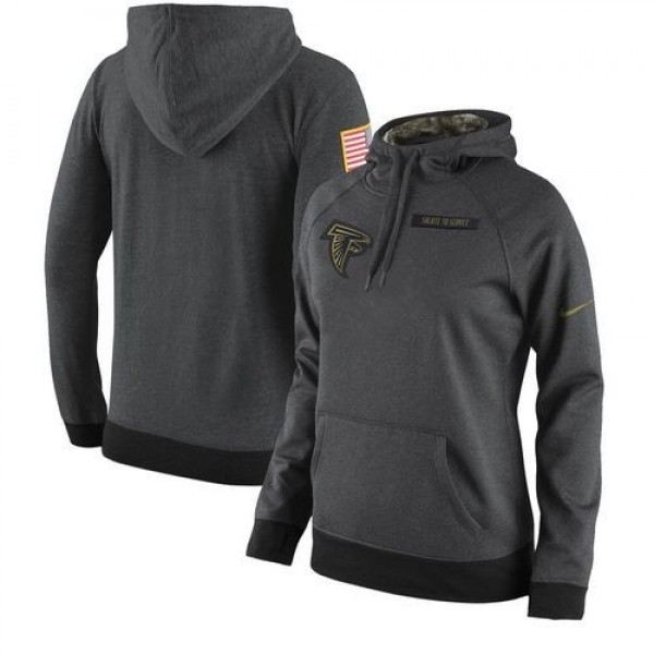 Women's Atlanta Falcons Anthracite Salute to Service Player Hoodie Jersey