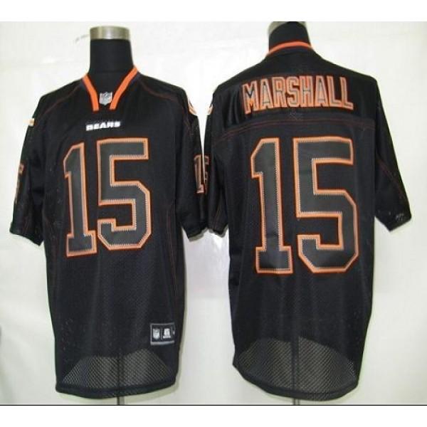 Bears #15 Brandon Marshall Lights Out Black Stitched NFL Jersey
