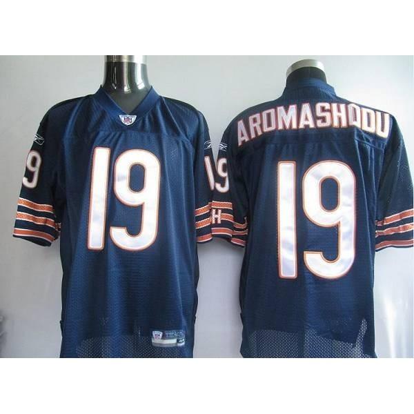 Bears #19 Devin Aromashodu Blue Stitched NFL Jersey