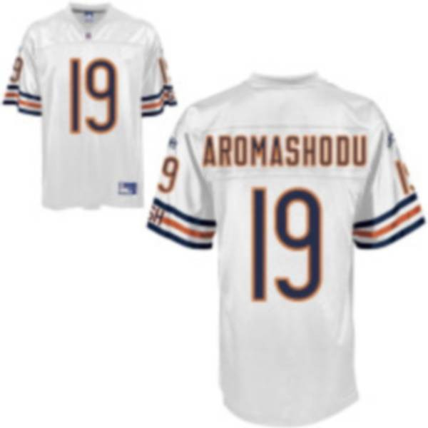 Bears #19 Devin Aromashodu White Stitched NFL Jersey