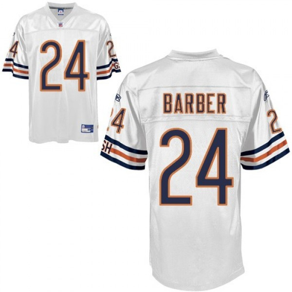 Bears #24 Marion Barber White Stitched NFL Jersey