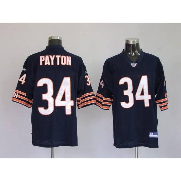 Bears #34 Walter Payton Blue Stitched NFL Jersey