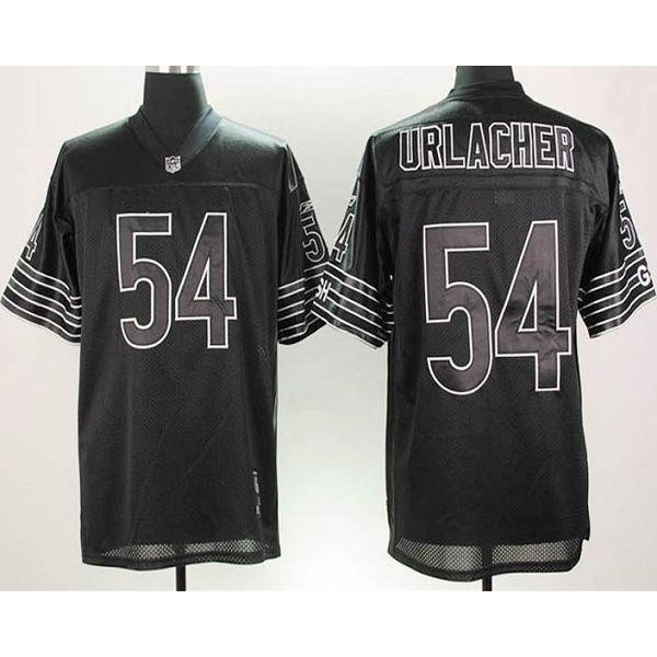 Bears #54 Brian Urlacher Black Shadow Stitched NFL Jersey