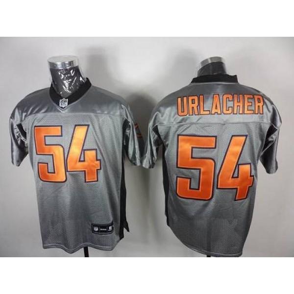 Bears #54 Brian Urlacher Grey Shadow Stitched NFL Jersey