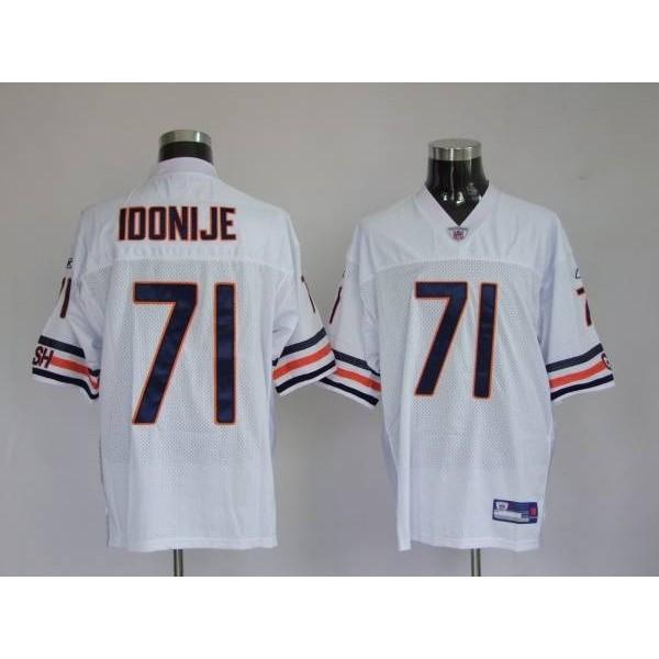 Bears #71 Israel Idonije White Stitched NFL Jersey