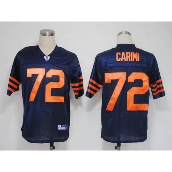 Bears #72 Gabe Carimi Blue/Orange 1940s Throwback Stitched NFL Jersey