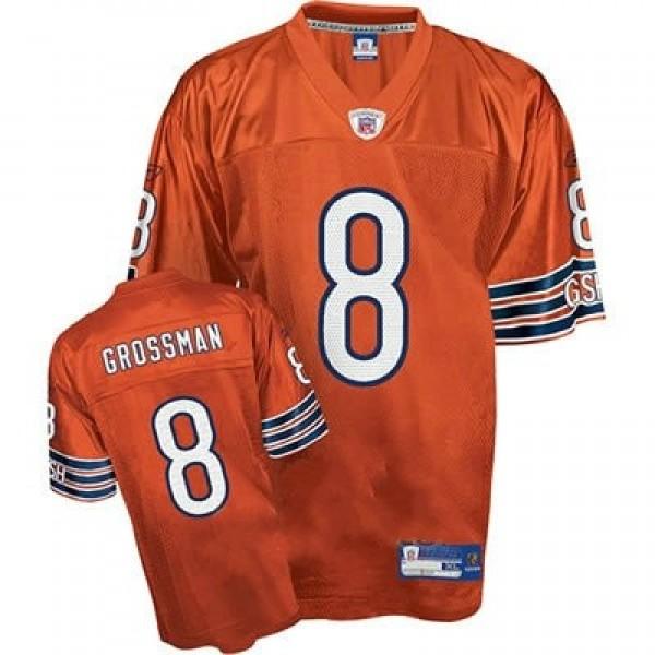 Bears #8 Rex Grossman Orange Stitched NFL Jersey