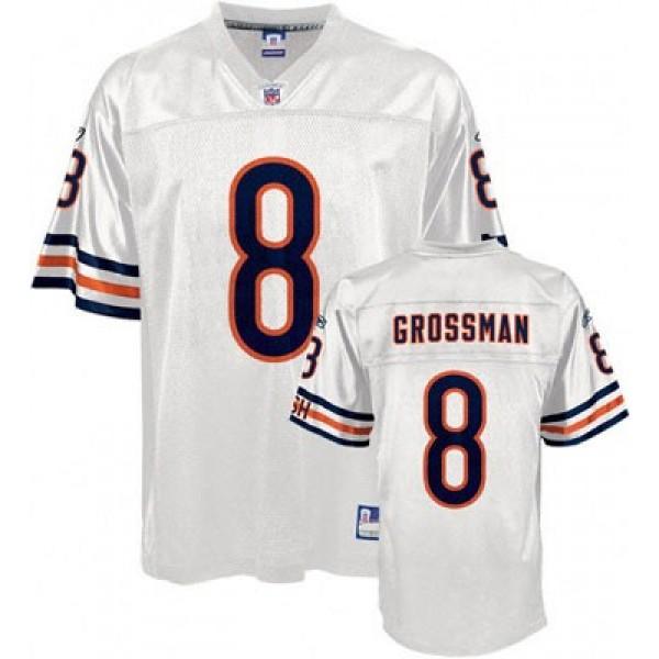 Bears #8 Rex Grossman White Stitched NFL Jersey