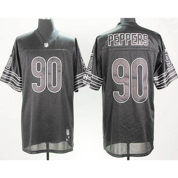 Bears #90 Julius Peppers Black Shadow Stitched NFL Jersey