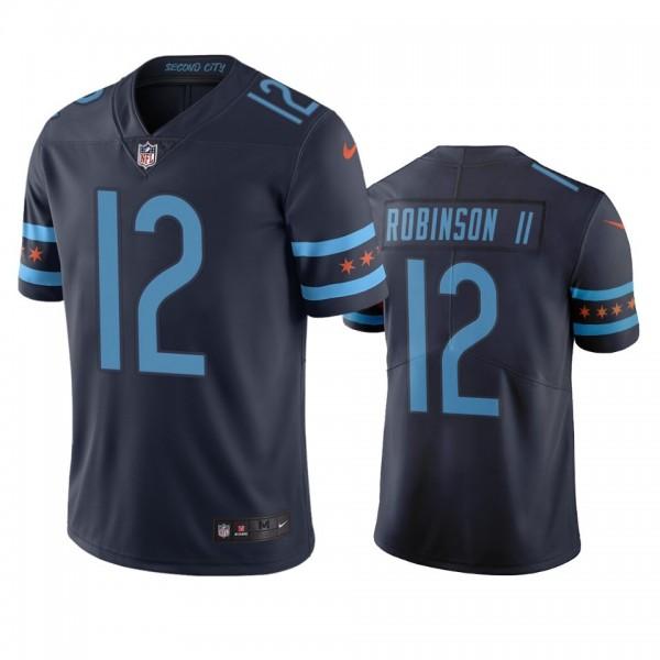 Chicago Bears #12 Allen Robinson II Navy Vapor Limited City Edition NFL Jersey