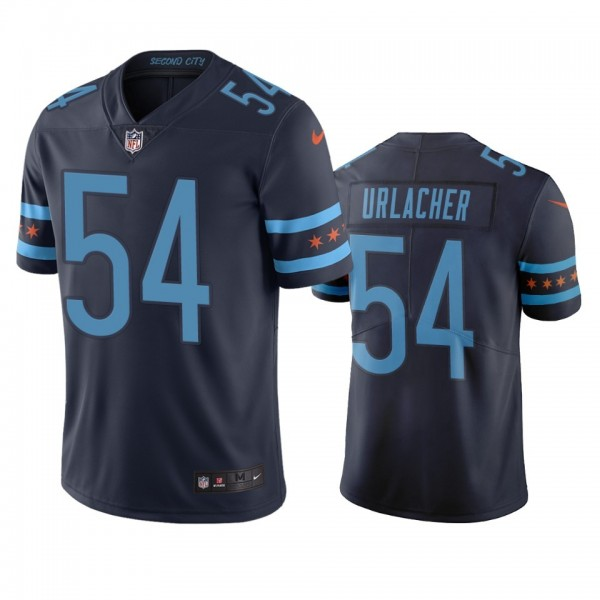 Chicago Bears #54 Brian Urlacher Navy Vapor Limited City Edition NFL Jersey