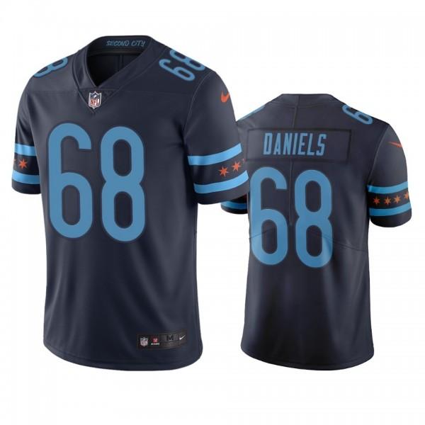 Chicago Bears #68 James Daniels Navy Vapor Limited City Edition NFL Jersey