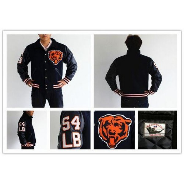 Mitchell And Ness NFL Chicago Bears #54 Brian Urlacher Authentic Wool Jacket