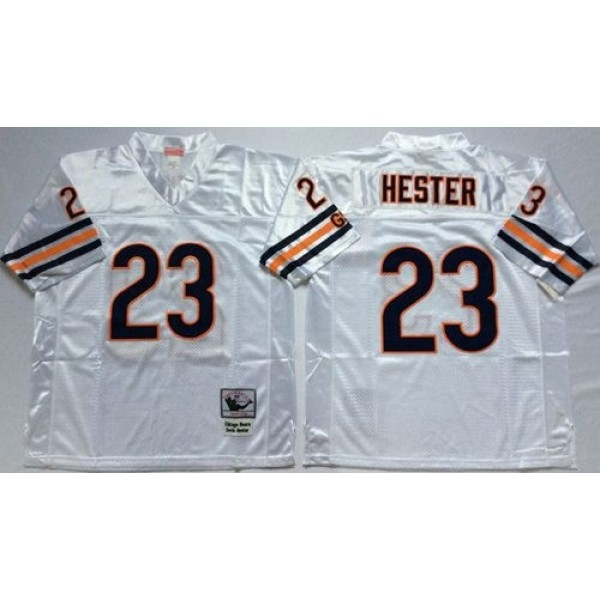 Mitchell&Ness Bears #23 Devin Hester White Small No. Throwback Stitched NFL Jersey