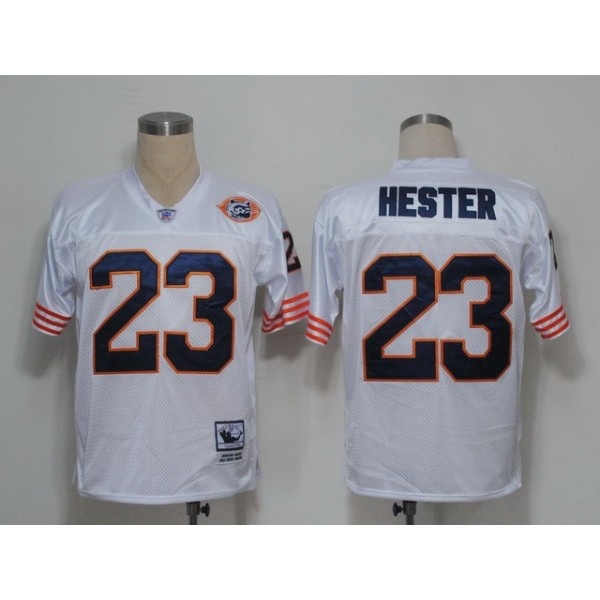 Mitchell and Ness Bears #23 Devin Hester White Big No. Stitched NFL Jersey