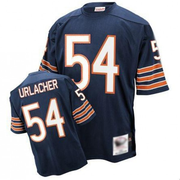 Mitchell and Ness Bears #54 Brian Urlacher Blue Stitched Throwback NFL Jersey