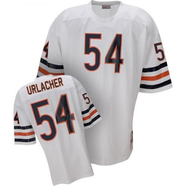 Mitchell and Ness Bears #54 Brian Urlacher White Stitched Throwback NFL Jersey