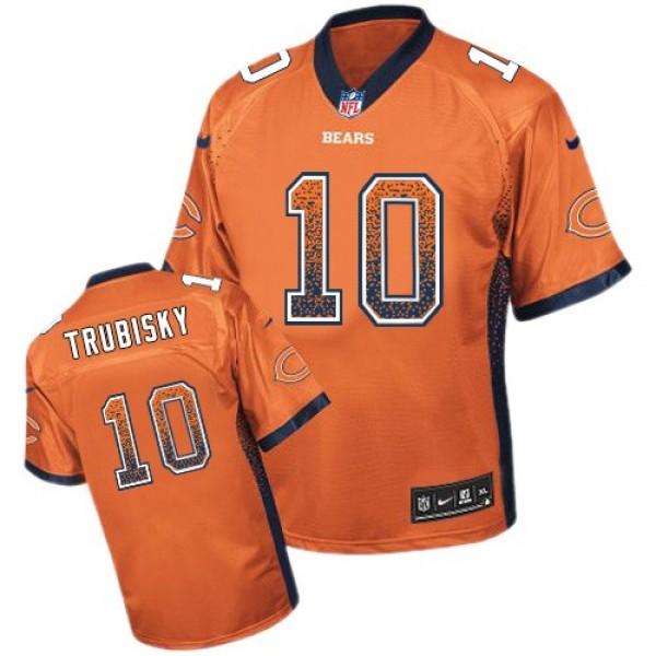 Nike Bears #10 Mitchell Trubisky Orange Alternate Men's Stitched NFL Elite Drift Fashion Jersey