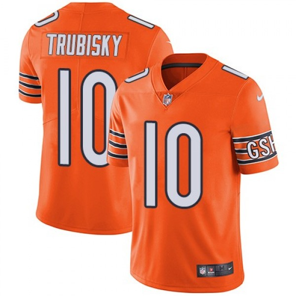 Nike Bears #10 Mitchell Trubisky Orange Men's Stitched NFL Limited Rush Jersey