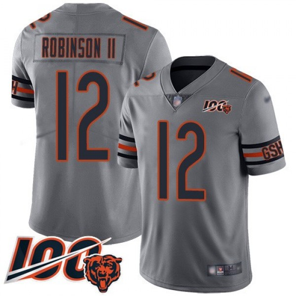 Nike Bears #12 Allen Robinson II Silver Men's Stitched NFL Limited Inverted Legend 100th Season Jersey