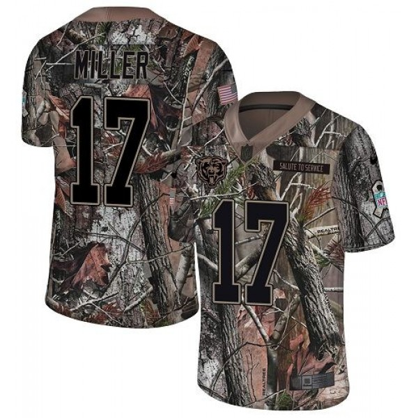 Nike Bears #17 Anthony Miller Camo Men's Stitched NFL Limited Rush Realtree Jersey