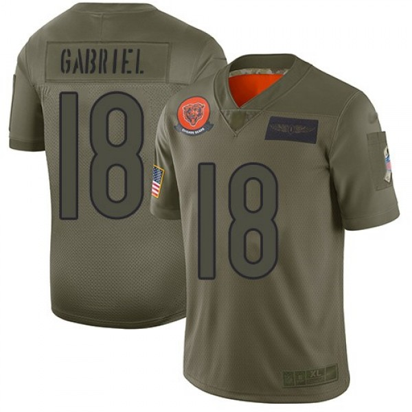Nike Bears #18 Taylor Gabriel Camo Men's Stitched NFL Limited 2019 Salute To Service Jersey