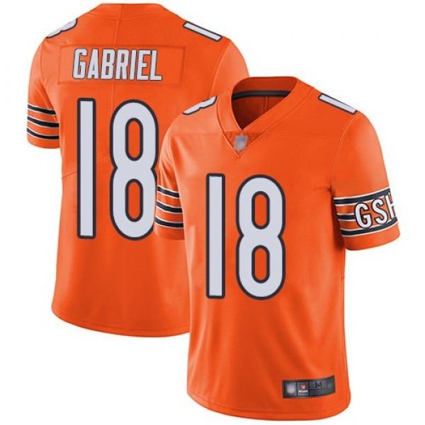 Nike Bears #18 Taylor Gabriel Orange Men's Stitched NFL Limited Rush Jersey