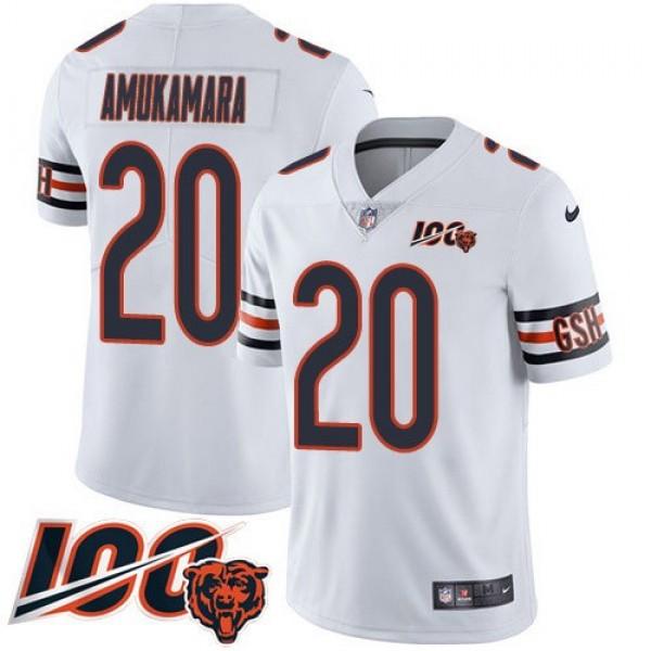 Nike Bears #20 Prince Amukamara White Men's 100th Season Stitched NFL Vapor Untouchable Limited Jersey