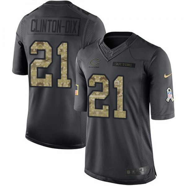 Nike Bears #21 Ha Ha Clinton-Dix Black Men's Stitched NFL Limited 2016 Salute to Service Jersey