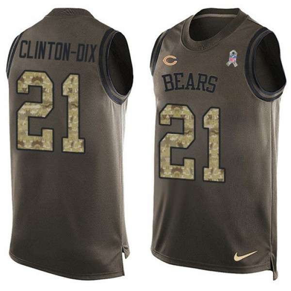 Nike Bears #21 Ha Ha Clinton-Dix Green Men's Stitched NFL Limited Salute To Service Tank Top Jersey