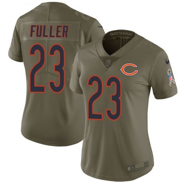 Women's Bears #23 Kyle Fuller Olive Stitched NFL Limited 2017 Salute to Service Jersey