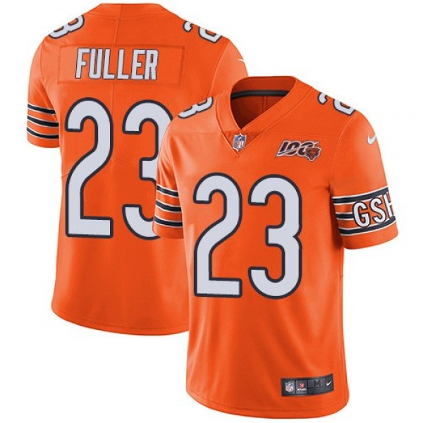 Nike Bears #23 Kyle Fuller Orange Men's 100th Season Stitched NFL Limited Rush Jersey