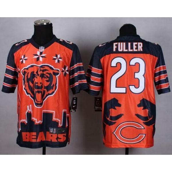 Nike Bears #23 Kyle Fuller Orange Men's Stitched NFL Elite Noble Fashion Jersey