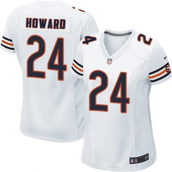 Women's Bears #24 Jordan Howard White Stitched NFL Elite Jersey