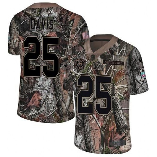Nike Bears #25 Mike Davis Camo Men's Stitched NFL Limited Rush Realtree Jersey