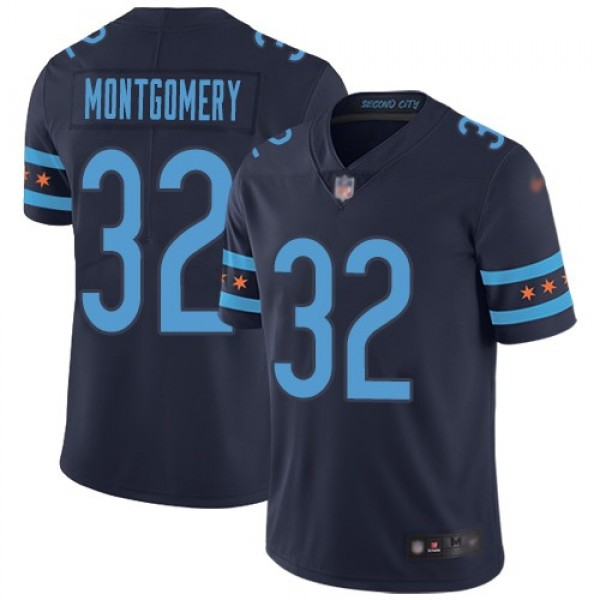 Nike Bears #32 David Montgomery Navy Blue Team Color Men's Stitched NFL Limited City Edition Jersey