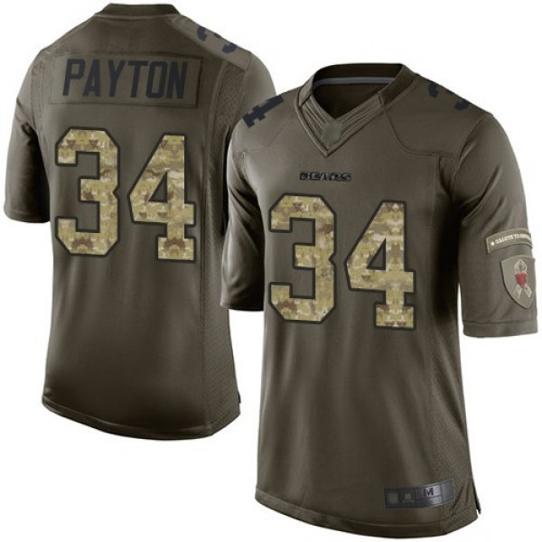 Nike Bears #34 Walter Payton Green Men's Stitched NFL Limited 2015 Salute to Service Jersey