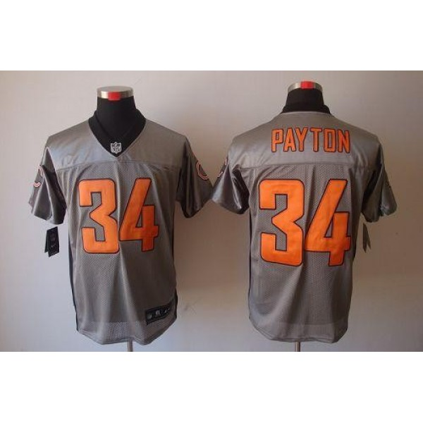 Nike Bears #34 Walter Payton Grey Shadow Men's Stitched NFL Elite Jersey